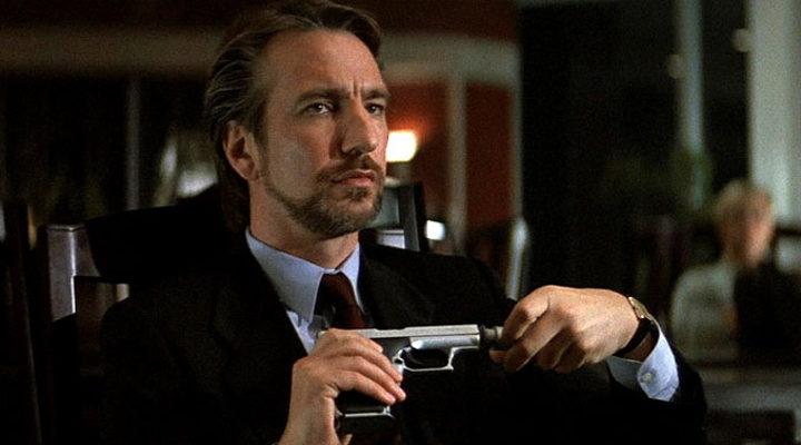 Alan Rickman como Hans Gruber en 'Die Hard'