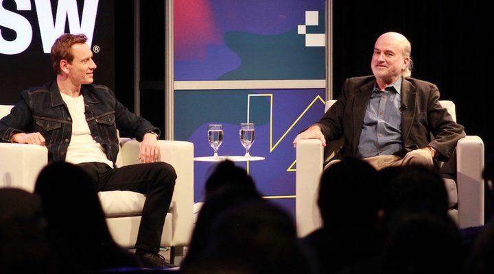 Michael Fassbender y Terrence Malick en el SXSW