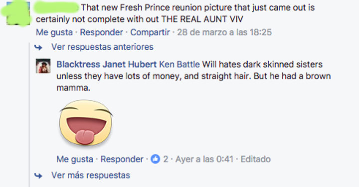 Janet Hubert en Facebook