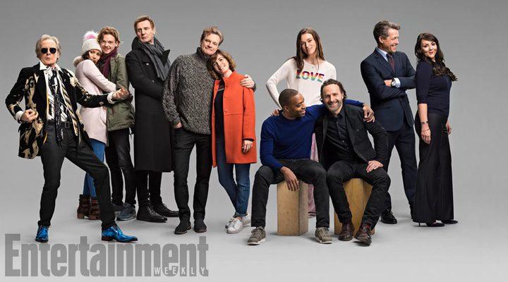 Los actores de 'Love Actually' posando para Entertainment Weekly