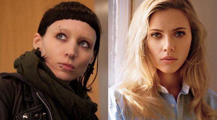 Rooney Mara en 'Millennium: los hombres que no amaban a las mujeres' y Scarlett Johansson