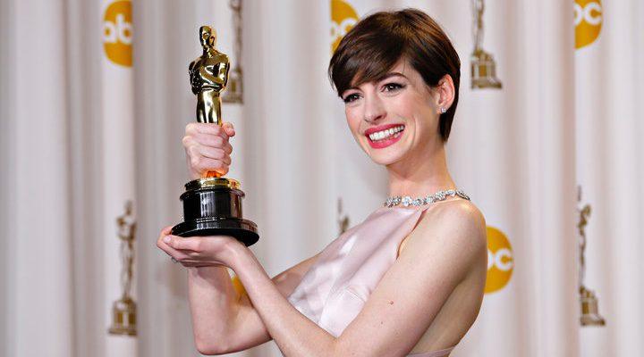 Anne Hathaway y su Oscar