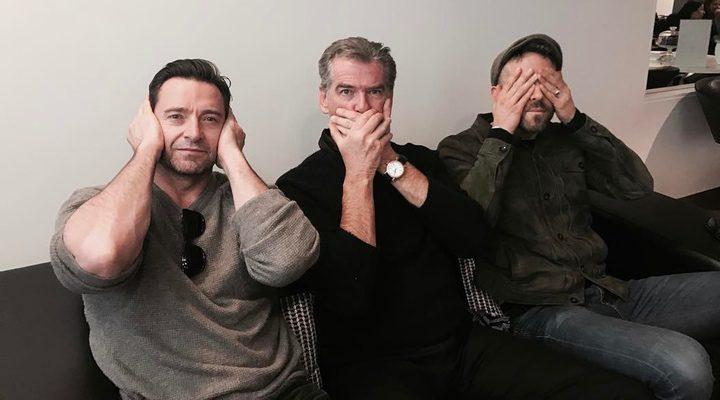 Hugh Jackman, Pierce Brosnan y Ryan Reynolds