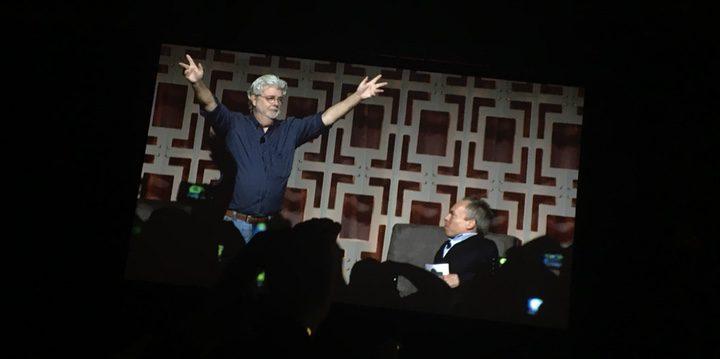 George Lucas aparece por sorpresa en el panel del 40 aniversario de 'Star Wars'