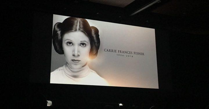 El emotivo homenaje a Carrie Fisher