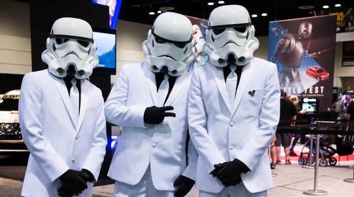 Fans en la convención