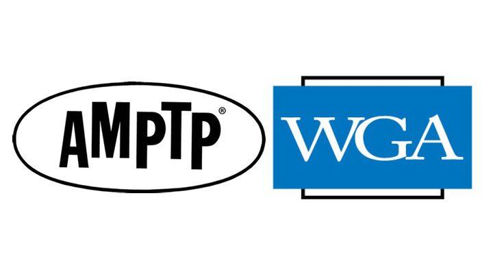 Logos de la WGA y la AMPTP