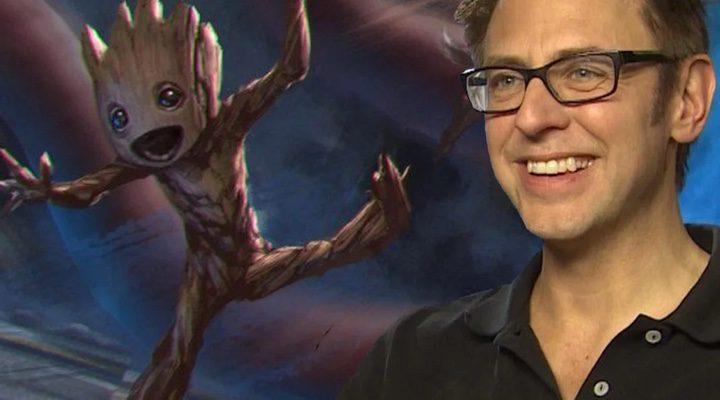 James Gunn con Baby Groot