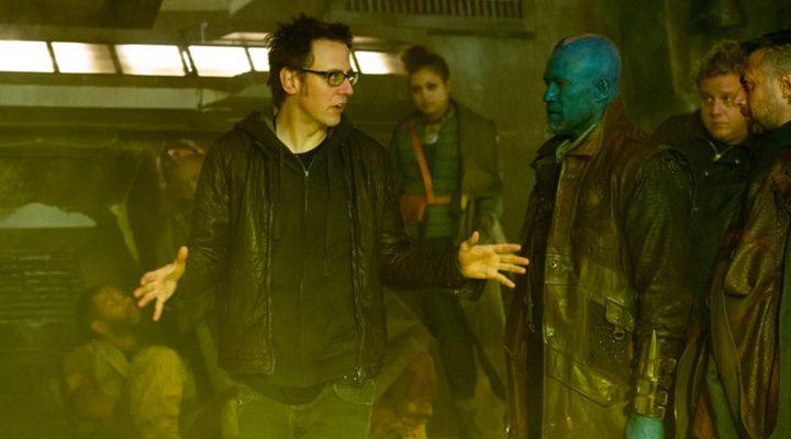 James Gunn dirigiendo en 'guardianes de la Galaxia'
