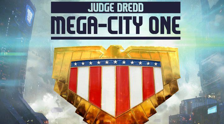 Cartel de la nueva serie sobre el Juez Dredd.