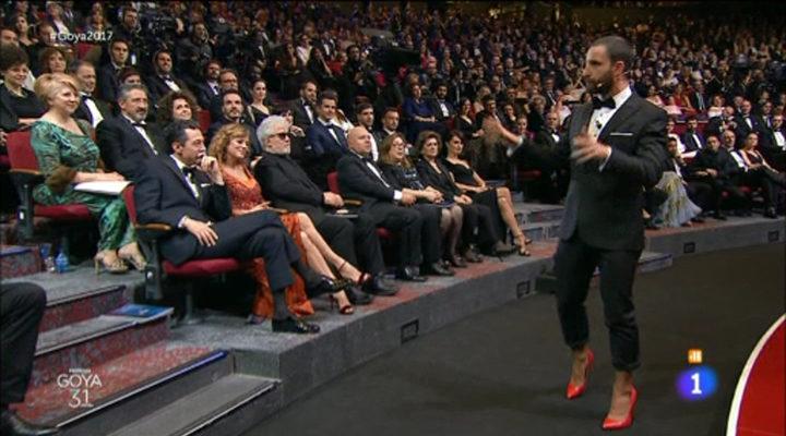 Dani Rovira en la gala de los Goya 2017