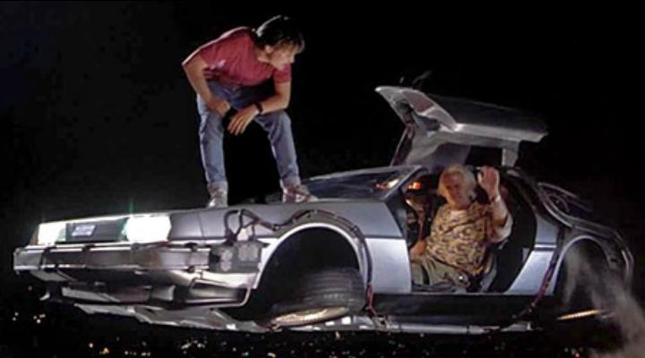 Marty McFly y Doc en 'Regreso al futuro II'