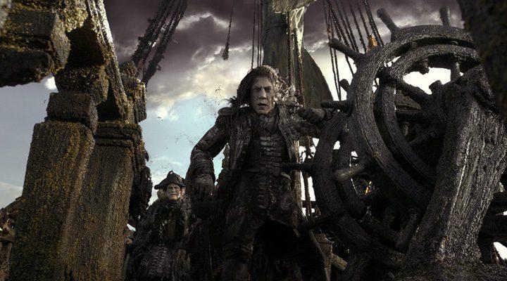 Javier Bardem durante el rodaje de la quinta entrega de la saga 'Piratas del Caribe'