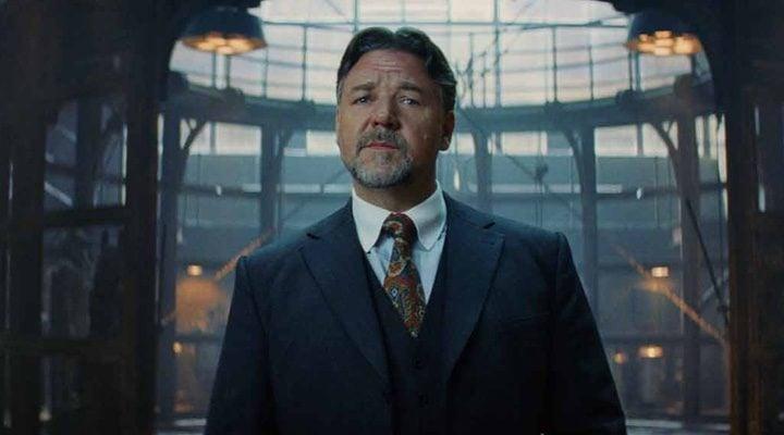 Russell Crowe durante el rodaje de 'La momia'