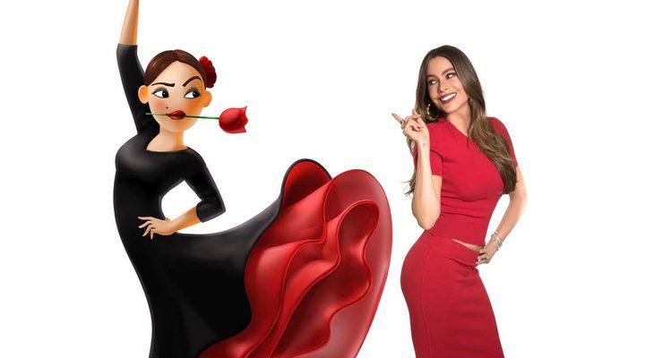 Sofía Vergara como el emoji de flamenca