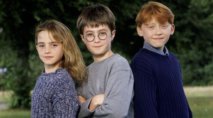 Emma Watson, Daniel Radcliffe y Rupert Grint (2001)