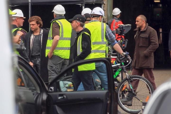 Alden Ehrenreich en el rodaje del spin-off de Han Solo