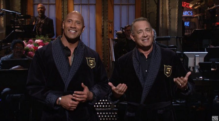 Saturday Night Live, Tom Hanks y Dwayne Johnson
