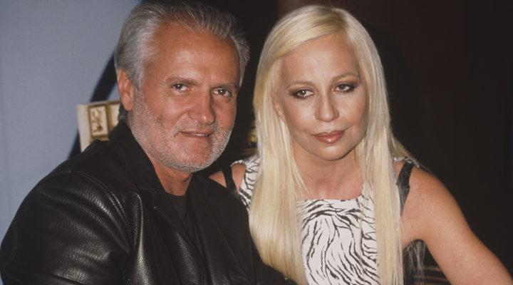 Gianni y Donatella Versace