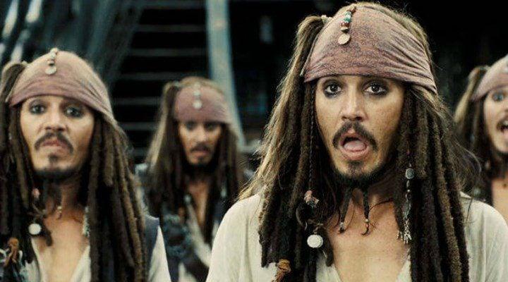 Johnny Depp como Jack Sparrow en la saga de 'Piratas del Caribe'
