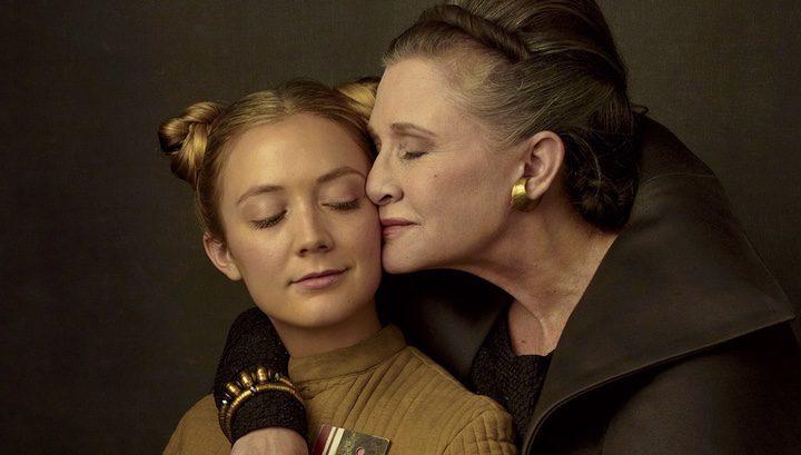 Billie Lourd y Carrie Fisher en 'Los Últimos Jedi'