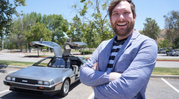 Spencer White y su DeLorean