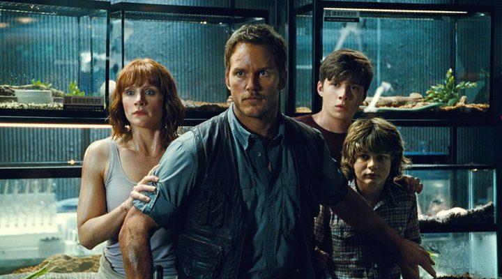 'Chriss Pratt y Bryce Dallas Howard en 'Jurassic World'
