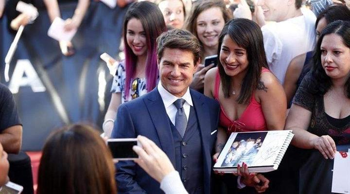 Tom Cruise en la premiere de 'La Momia'