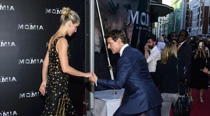 Tom Cruise y Annabelle Wallis en la premiere de 'La Momia'