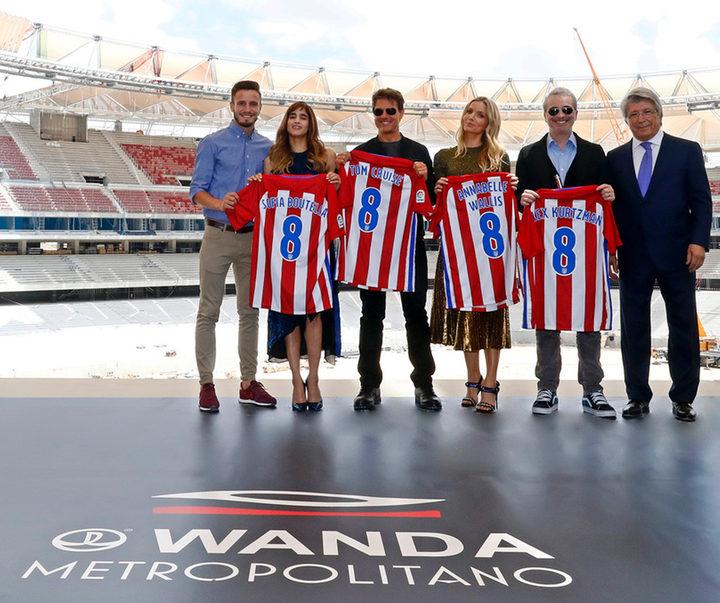 El reparto de 'La Momia' en el Wanda Metropolitano