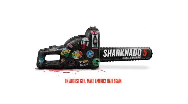 Lema de la quinta entrega de la saga 'Sharknado'