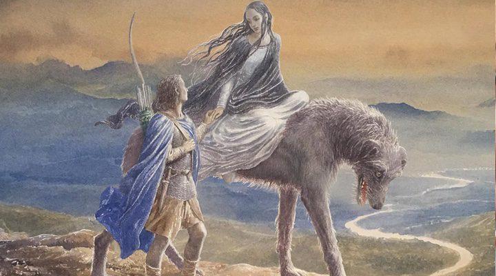 Ilustración de la portada del libro, realizada por Alan Lee