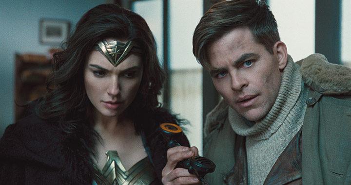 Chris Pine y Gal Gadot en Wonder Woman