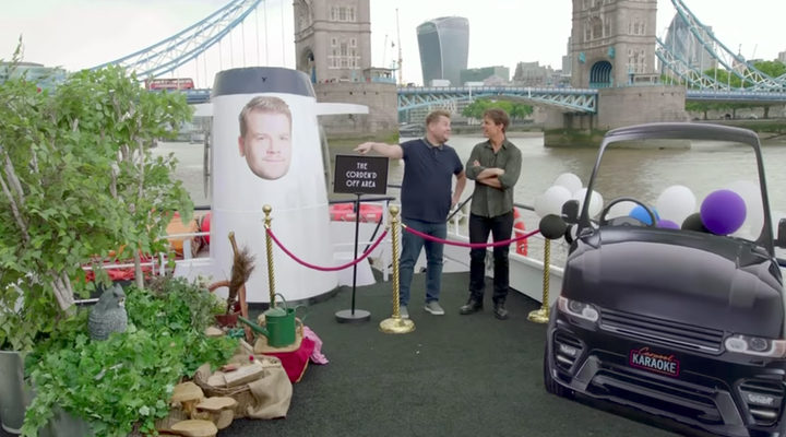 The late late Show, Cruise y Corden