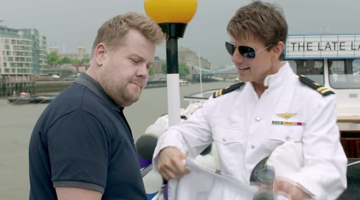 Tom Cruise y James Corden