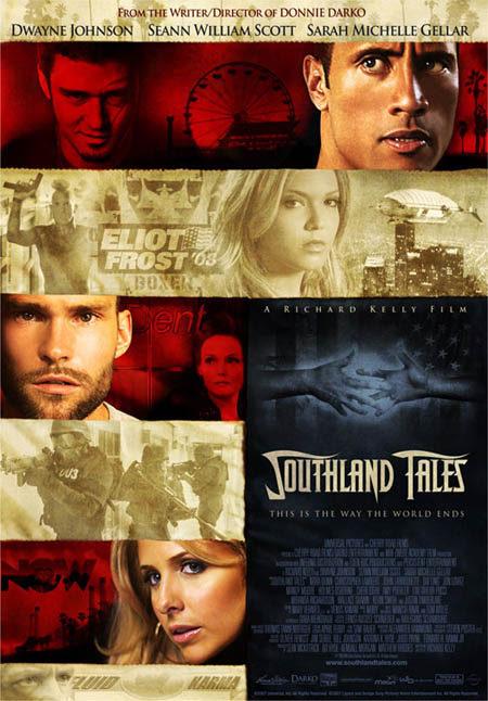 Cartel y clip de 'Southland tales'