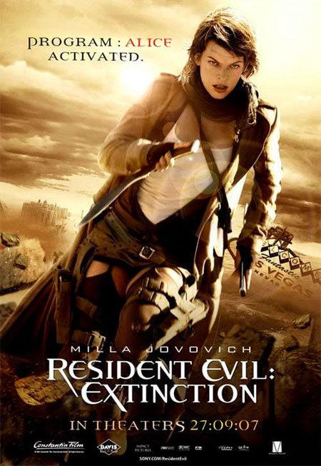 Dos nuevos carteles de 'Resident Evil: extinction'