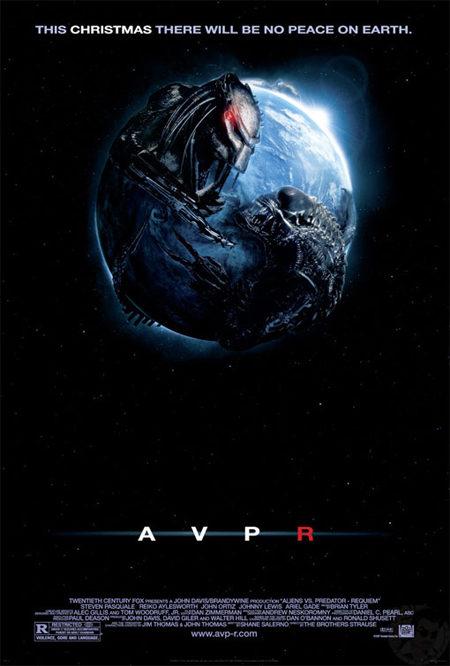 Primer cartel de 'Aliens vs predator: requiem'