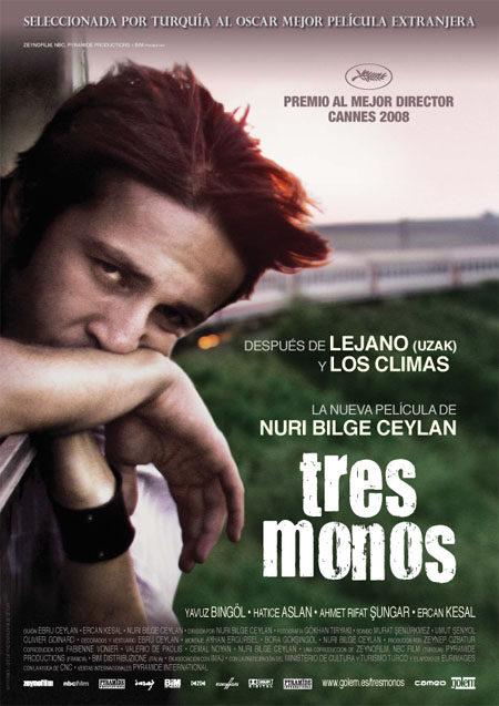 Cartel en español de 'Tres monos'