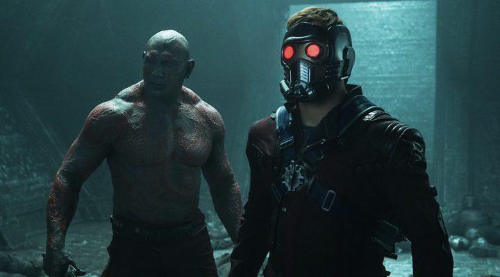 Chris Pratt y Dave Bautista en 'Guardianes de la Galaxia'