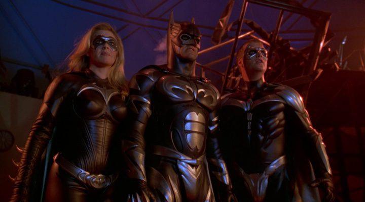 George Clonney, Chris O'Donnell y Alicia Silverstone en 'Batman & Robin'