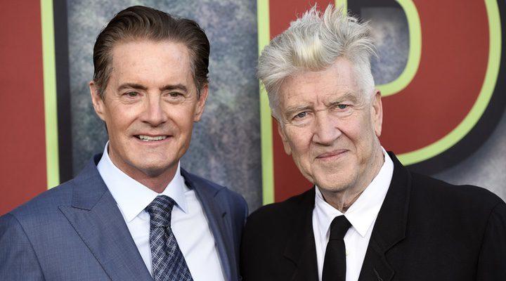 David Lynch y Kyle MacLachlan en la premiere de 'Twin Peaks'