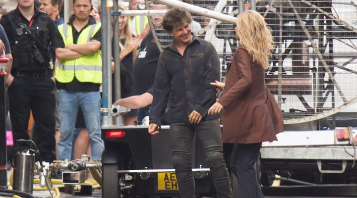 Tom Cruise y Anabelle Wallis en el rodaje de 'La Momia'