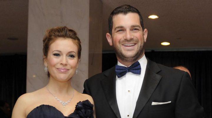 Alyssa Milano con su marido