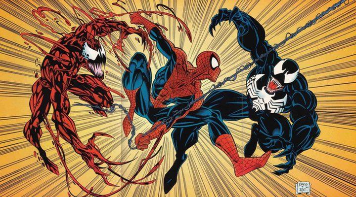 Spider-Man, Venom y Carnage en cómic