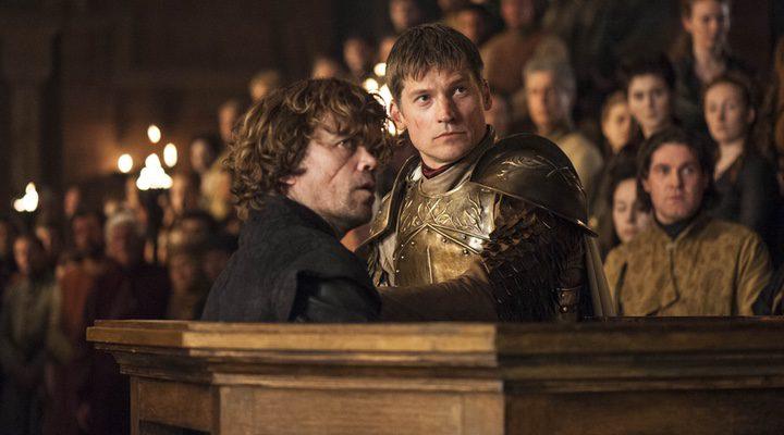 Tyrion y Jaime en el juicio contra Tyrion.
