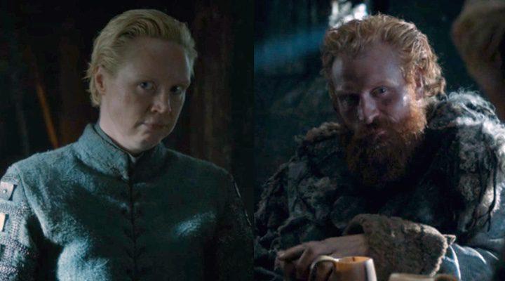 Brienne y Tormund comenzando su relación.