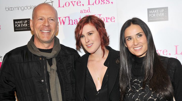 Bruce Willis, Rumer Willis y Demi Moore