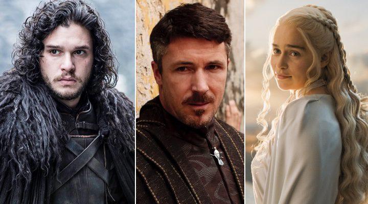 Daenerys, Jon Snow y Meñique en 'Juego de Tronos'