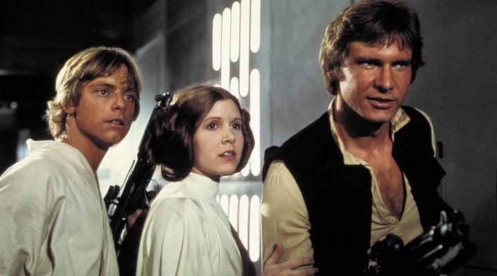 Leia, Luke y Han Solo